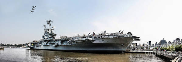 Uss Intrepid Poster featuring the photograph Uss Intrepid Sea-air-space Museum In New York City. by Nishanth Gopinathan