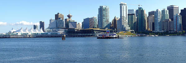 Vancouver Bc Poster featuring the photograph Vancouver Bc Skyline Panorama Canada. by Gino Rigucci