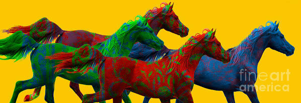 Equine Art Poster featuring the photograph Horse Of A Different Color by Patty Hallman