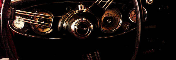 Steering Wheel Poster featuring the photograph At The Wheel by Erika Brown