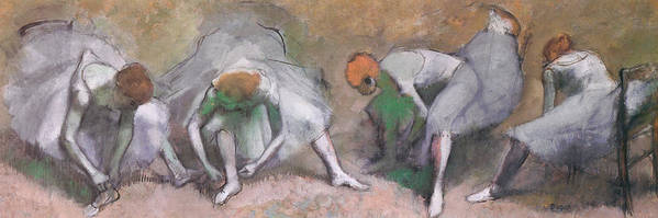 Frieze Of Dancers Poster featuring the painting Frieze Of Dancers by Edgar Degas