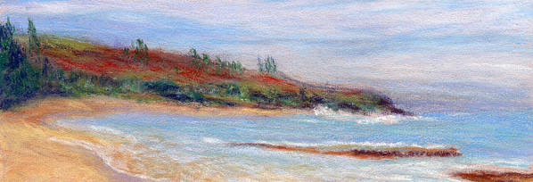 Coastal Decor Poster featuring the painting Moloa'a Beach by Kenneth Grzesik