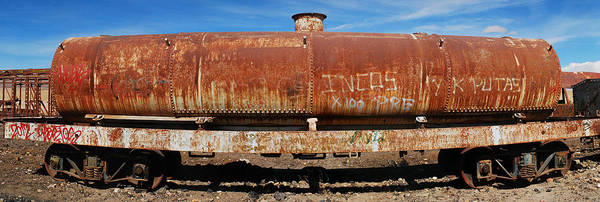 Rusty Poster featuring the photograph Ols Rusty Container Train Wagon by Juan Gnecco