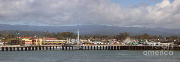 Panorama Poster featuring the photograph pr 205- The Boardwalk At Santa Cruz by Chris Berry