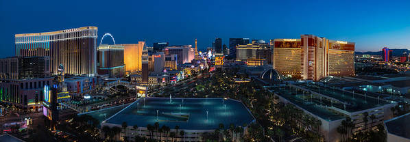 The Poster featuring the photograph The Strip Las Vegas by Steve Gadomski