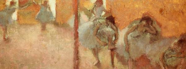 Art Poster featuring the painting Dancers by Edgar Degas