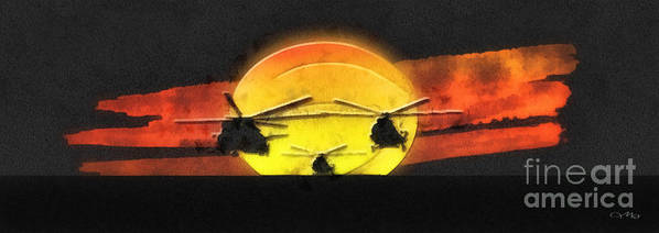 Apocalypse Now Poster featuring the mixed media Apocalypse Now by Mo T