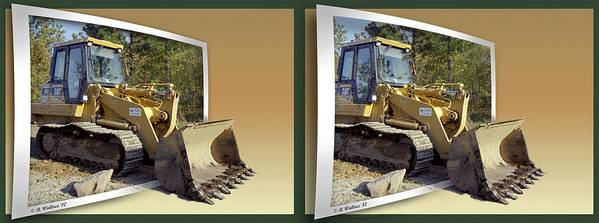 3d Poster featuring the photograph Loader - Cross Your Eyes And Focus On The Middle Image by Brian Wallace
