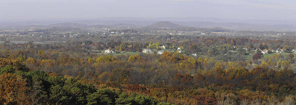 Pano Poster featuring the photograph Misty Fall Pano Of The Shenandoah Valley by Lynn Bauer
