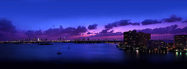 Panorama Poster featuring the photograph Purple Sunset by Michael Guirguis