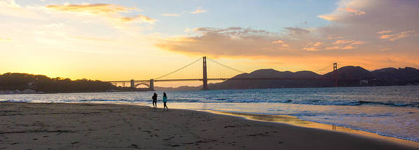 Sunset Poster featuring the photograph Sunset At Crissy Field With Golden Gate Bridge San Francisco Ca 5 by G Matthew Laughton