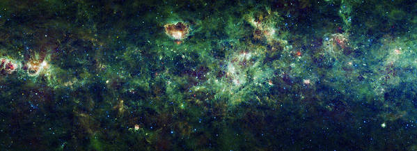 Milky Way Poster featuring the photograph The Milky Way by Adam Romanowicz