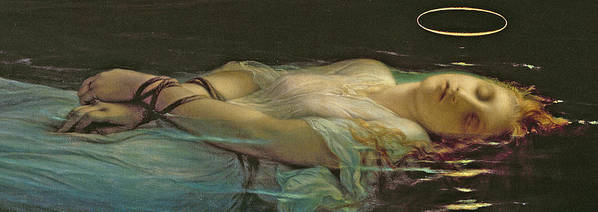 The Young Martyr Poster featuring the painting The Young Martyr by Hippolyte Delaroche