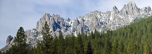 Loree Johnson Poster featuring the photograph Winter At Castle Crags by Loree Johnson