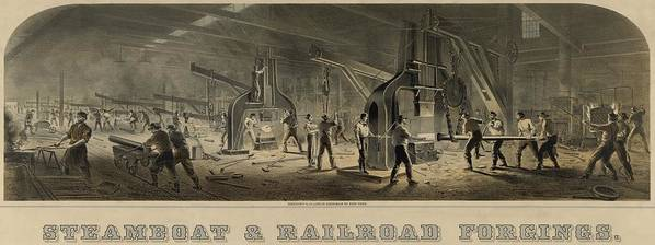 History Poster featuring the photograph Paterson Iron Company by Everett