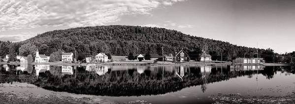 Adirondacks Poster featuring the photograph Brant Lake Reflections Black And White by Joshua House