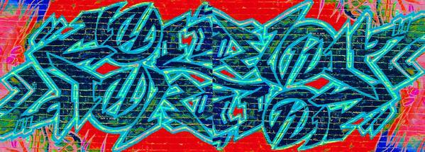 Street Art Poster featuring the digital art Double Trouble 2 by Randall Weidner