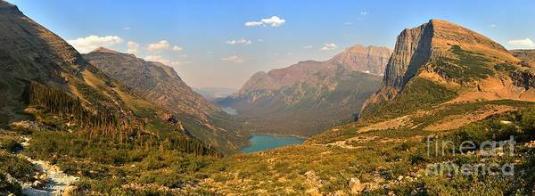 Grinnell Glacier Poster featuring the photograph Grinnell Glacier Trail Glacier National Park by Adam Jewell