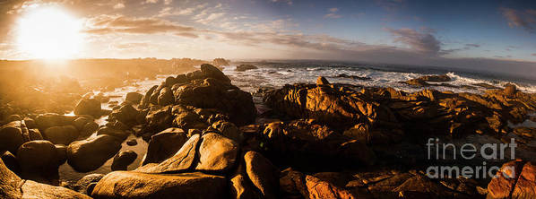 Australia Poster featuring the photograph Morning Ocean Panorama by Jorgo Photography - Wall Art Gallery