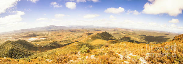 Tasmania Poster featuring the photograph Mountains And Open Spaces by Jorgo Photography - Wall Art Gallery