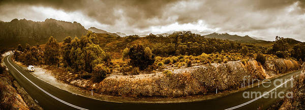 Road Poster featuring the photograph Southwest National Park Tasmania by Jorgo Photography - Wall Art Gallery