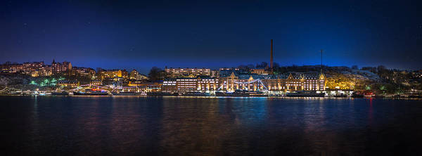 Ice Poster featuring the photograph Stockholm By Night by Jannis Politidis