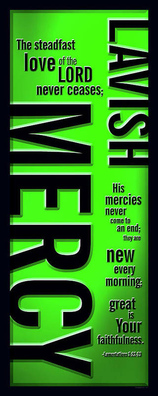 Jesus Poster featuring the digital art Lavish Mercy by Shevon Johnson