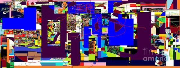 Poster featuring the digital art Daas 2 Daas 6 by David Baruch Wolk