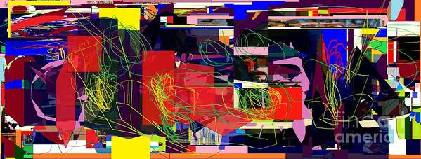 Poster featuring the digital art Daas 2 Daas 6a by David Baruch Wolk