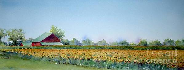 Landscape Poster featuring the painting Field Of Sunshine by Patricia Henderson