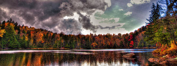 Adirondack's Poster featuring the photograph Passing Storm Over Cary Lake by David Patterson