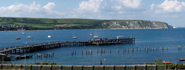 The Bay At Swanage Poster featuring the photograph The Bay At Swanage by Wendy Wilton