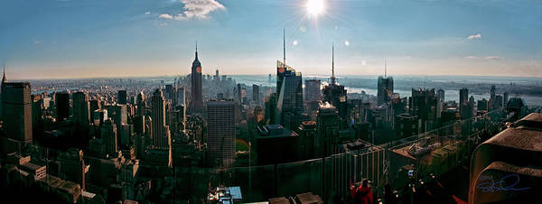 Panoramic Poster featuring the photograph Midtown South by S Paul Sahm
