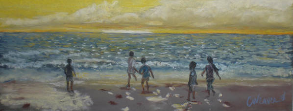 Landscape Poster featuring the painting End Of Summer by Cathy Weaver