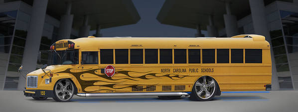 Hot Rod Poster featuring the photograph Hot Rod School Bus by Mike McGlothlen