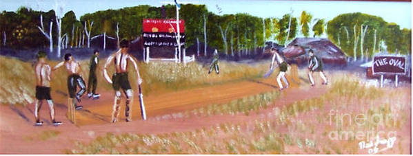 Cricket Match Vietnam Poster featuring the painting The Cricket Match by Neil Trapp