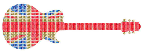 Guitar Poster featuring the painting Union Guitar by Gary Hogben