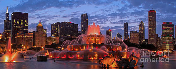 Chicago Poster featuring the photograph 2013 Chicago Blackhawks Skyline by Jeff Lewis