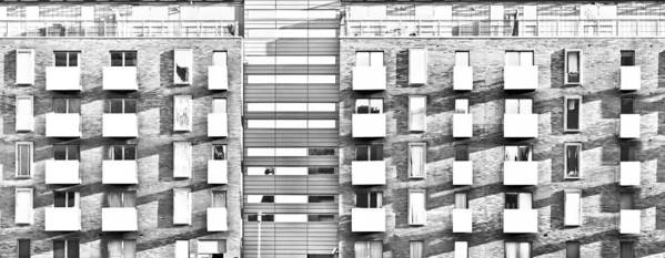 Apartments Poster featuring the photograph Modern Apartments by Tom Gowanlock