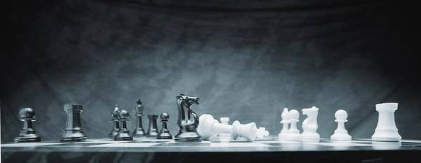 Achievement Poster featuring the photograph A Chess Game by Don Hammond