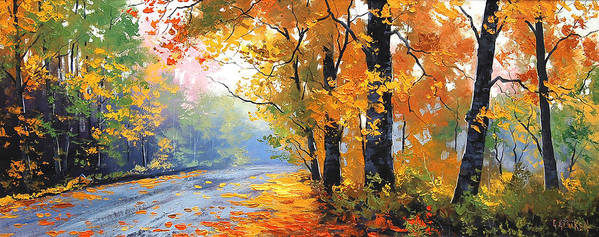 Fall Poster featuring the painting Autumn Backlight by Graham Gercken