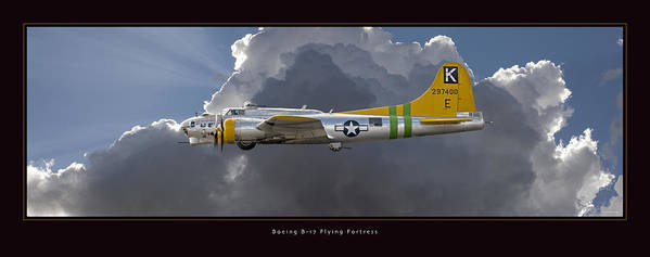 B-17 Flying Fortress Framed Prints Poster featuring the photograph Boeing B-17 by Larry McManus