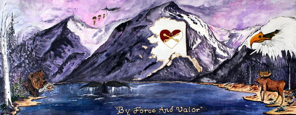 Fort Richardson Poster featuring the painting By Force And Valor by Judy Swircenski