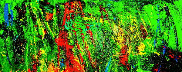 Abstract Painting Print Poster featuring the painting Jungle Beat by Monique's Fine Art