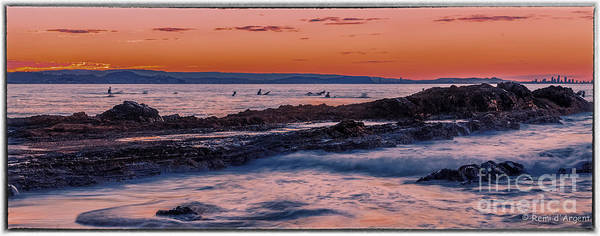 Sunset Poster featuring the photograph Last Waves by Remi D Photography