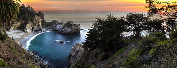 Mcway Falls Poster featuring the photograph Mcway Falls Sunset by Brad Scott