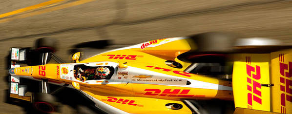 Long Beach Ca Poster featuring the photograph Ryan Hunter-reay by Denise Dube