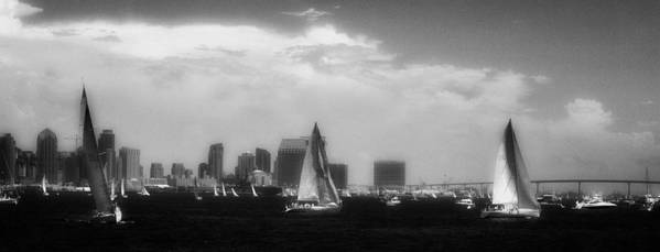 San Diego Poster featuring the photograph San Diego Harbor In Infrared by Hugh Smith