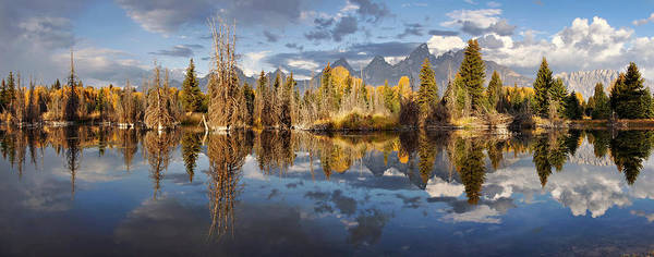 Grand Tetons Poster featuring the photograph Silent Symmetry by Leda Robertson