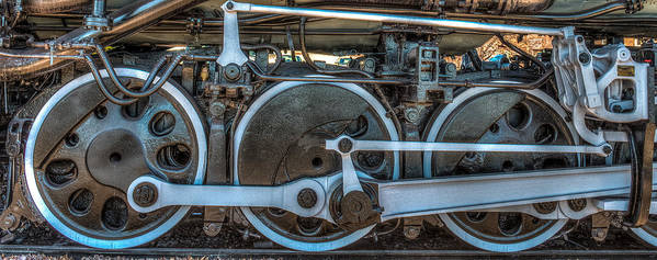 Paul Poster featuring the photograph Train Wheels by Paul Freidlund